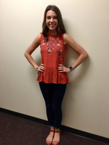 Jordan Long in her Hall Night attire