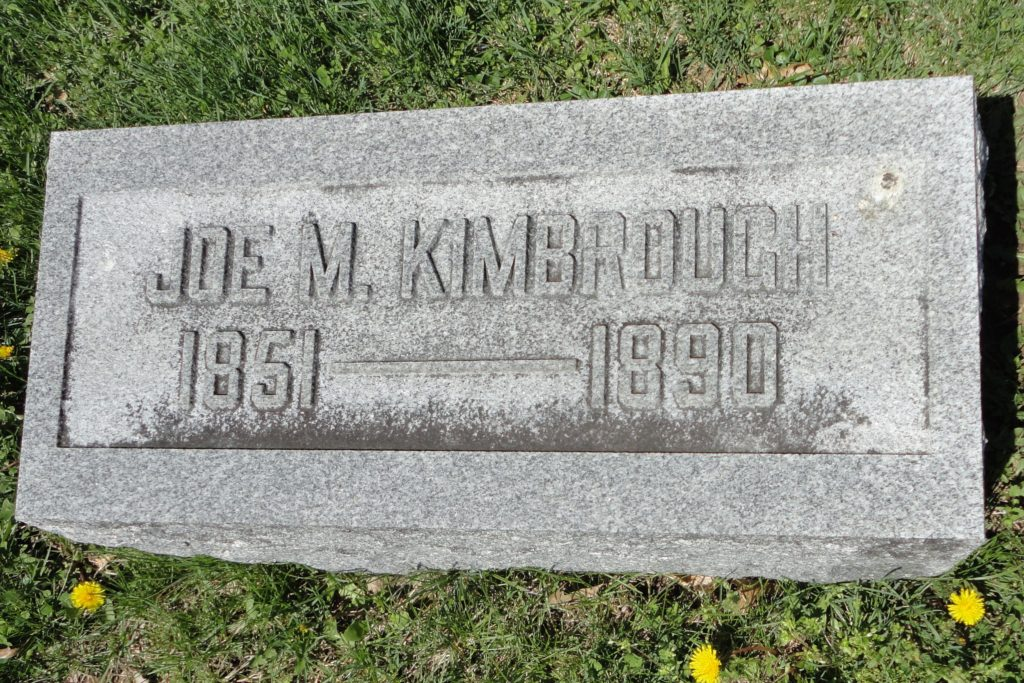 Kimbrough's gravesite in his hometown of Cynthiana, Kentucky. findagrave.com