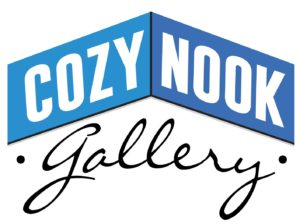 The logo of Cozy Nook Gallery in Flemingsburg, Kentucky, where Transy grad Trent Redmon did an artist residency this summer.