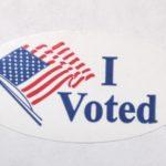 """I Voted"" sticker."